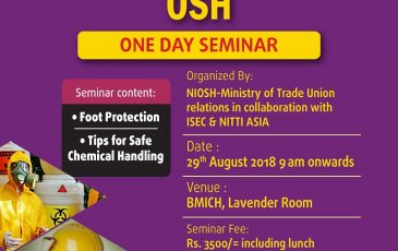 One Day Seminar: International Safety Standard Related to the OSH in Sri Lanka