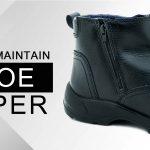 How to maintain shoe zipper